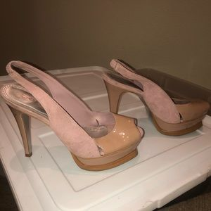 Pink Bebe high heels for sale. Worn once